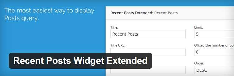 Recent Posts Widget Extended