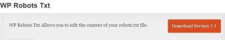 WP Robots Txt