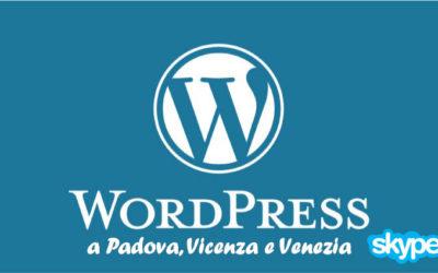 Corso online WordPress 5 edizione Skype 2020