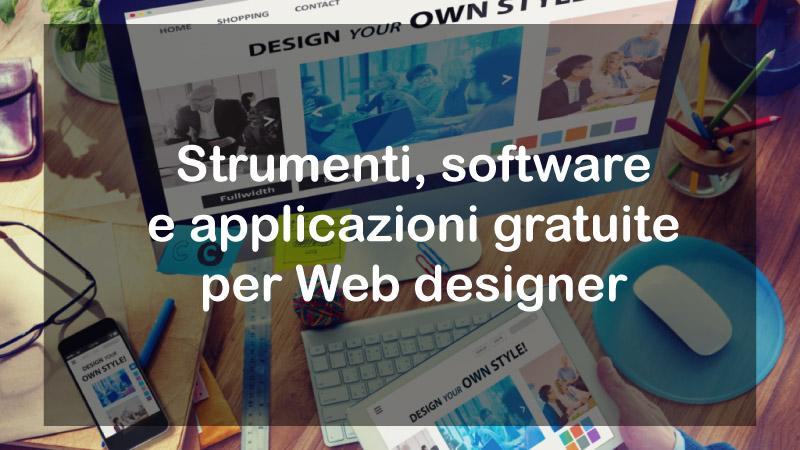 Migliori strumenti gratuiti per web designer