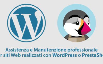Pacchetto assistenza e manutenzione WordPress e PrestaShop