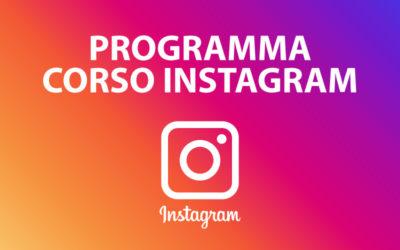 Programma corso Instagram Marketing 2019